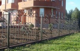 Забор кованый номер: кз-0256