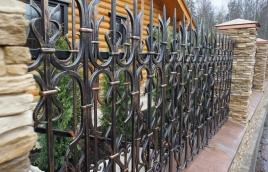 Забор кованый номер: кз-0258