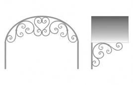 Козырек кованый эскиз: экк-804