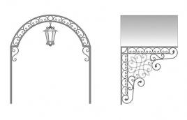 Козырек кованый эскиз: экк-805