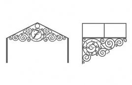 Козырек кованый эскиз: экк-807