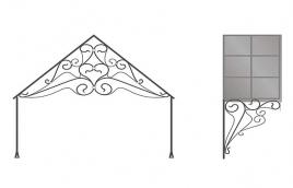Козырек кованый эскиз: экк-809