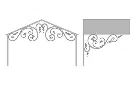 Козырек кованый эскиз: экк-810