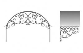 Козырек кованый эскиз: экк-811