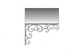 Козырек кованый эскиз: экк-814