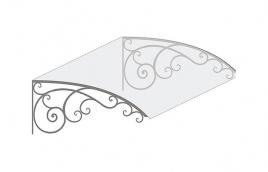 Козырек кованый эскиз: экк-817