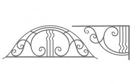 Козырек кованый эскиз: экк-820