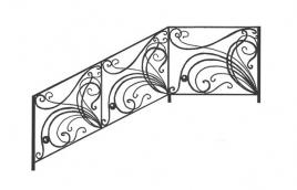 Перила кованые эскиз: экп-301