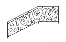 Перила кованые эскиз: экп-302