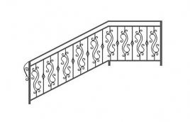 Перила кованые эскиз: экп-303