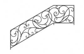 Перила кованые эскиз: экп-304