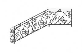 Перила кованые эскиз: экп-305