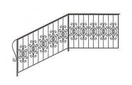 Перила кованые эскиз: экп-307