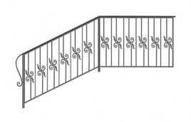 Перила кованые эскиз: экп-308