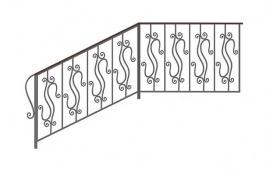 Перила кованые эскиз: экп-309