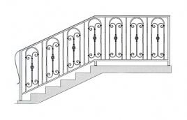 Перила кованые эскиз: экп-310