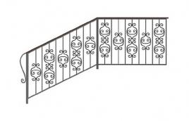 Перила кованые эскиз: экп-312