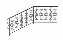 Перила кованые эскиз: экп-313