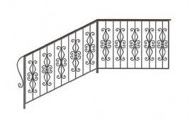 Перила кованые эскиз: экп-314