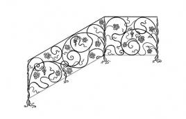 Перила кованые эскиз: экп-316
