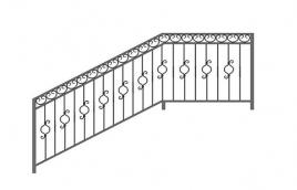 Перила кованые эскиз: экп-317
