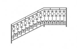 Перила кованые эскиз: экп-318