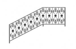 Перила кованые эскиз: экп-319
