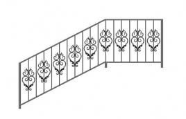 Перила кованые эскиз: экп-320
