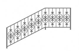 Перила кованые эскиз: экп-321