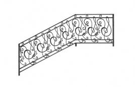 Перила кованые эскиз: экп-322