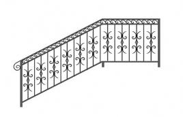 Перила кованые эскиз: экп-323