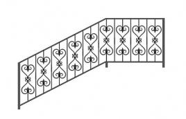 Перила кованые эскиз: экп-324