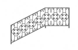Перила кованые эскиз: экп-326