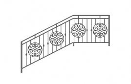 Перила кованые эскиз: экп-327