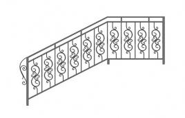 Перила кованые эскиз: экп-328