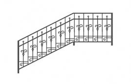 Перила кованые эскиз: экп-329