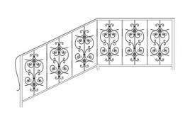 Перила кованые эскиз: экп-330