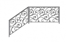 Перила кованые эскиз: экп-331