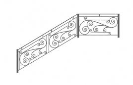 Перила кованые эскиз: экп-332