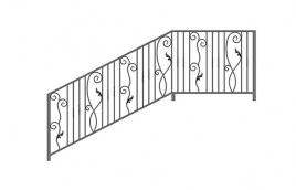 Перила кованые эскиз: экп-333