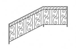Перила кованые эскиз: экп-334