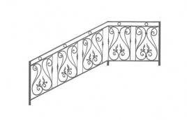 Перила кованые эскиз: экп-335