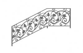 Перила кованые эскиз: экп-336