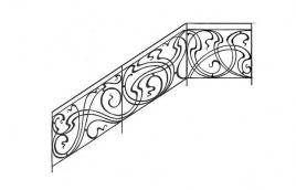 Перила кованые эскиз: экп-337