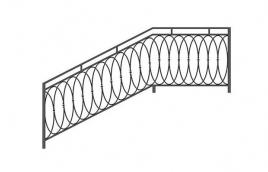 Перила кованые эскиз: экп-338