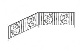 Перила кованые эскиз: экп-339