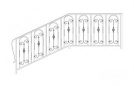 Перила кованые эскиз: экп-340