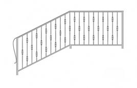 Перила кованые эскиз: экп-341