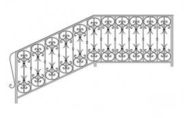 Перила кованые эскиз: экп-342