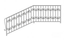 Перила кованые эскиз: экп-343